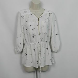 J for Justify Womens Blouse sz M fp